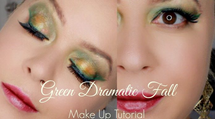 Green Dramatic Fall Makeup Tutorial 2016