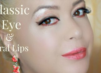 Classic Eye & Coral Lips Makeup Tutorial