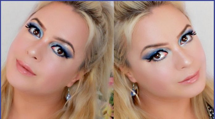 True Blue Romantic Makeup Look 2016 Maya Montri