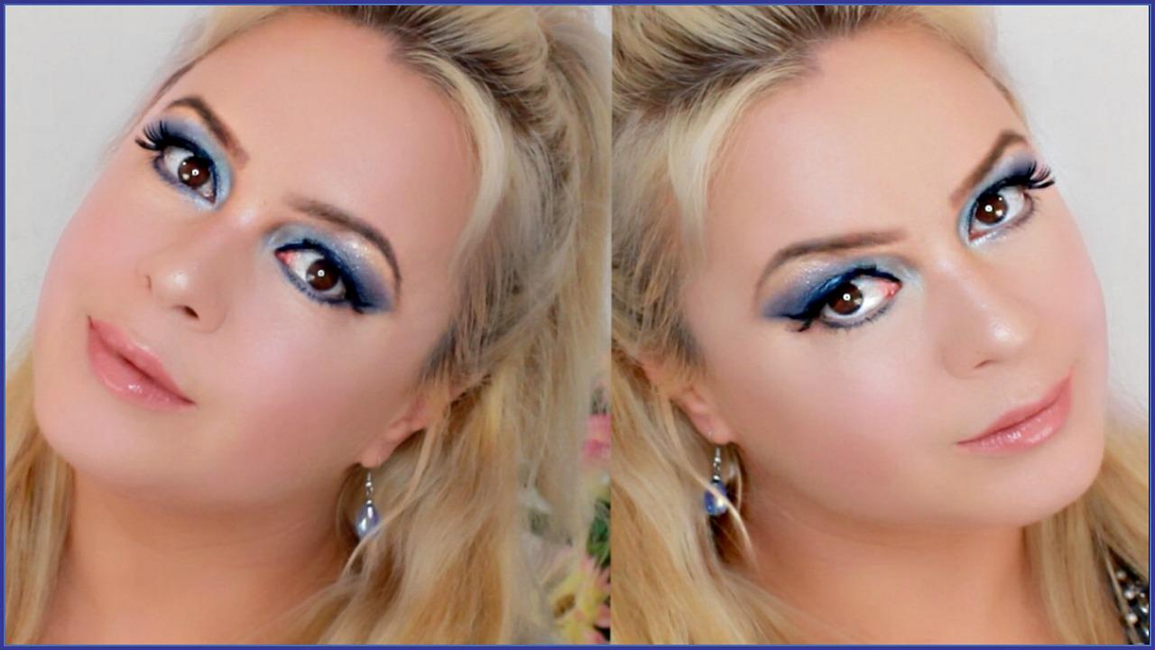 true blue romantic makeup