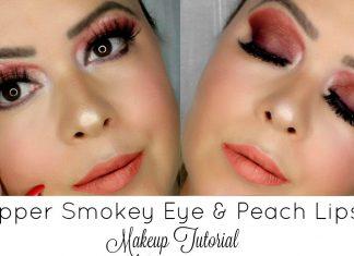 Copper Smokey Eye & Peach Lips | Valentine´s Day Makeup Tutorial 2017