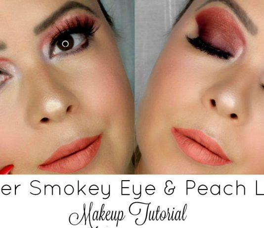 Copper Smokey Eye & Peach Lips | Valentine´s Day Makeup Tutorial 2017
