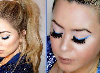 Khloe Kardashian Blue Liner Makeup & Hair Tutorial