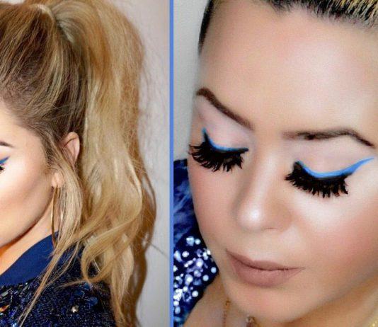 Khloe Kardashian Blue Liner Makeup & Hair Tutorial