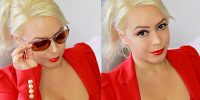 Simple Sweatproof Red Glam Summer Makeup Tutorial