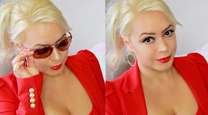 Simple Sweatproof Red Glam Summer Makeup Tutorial