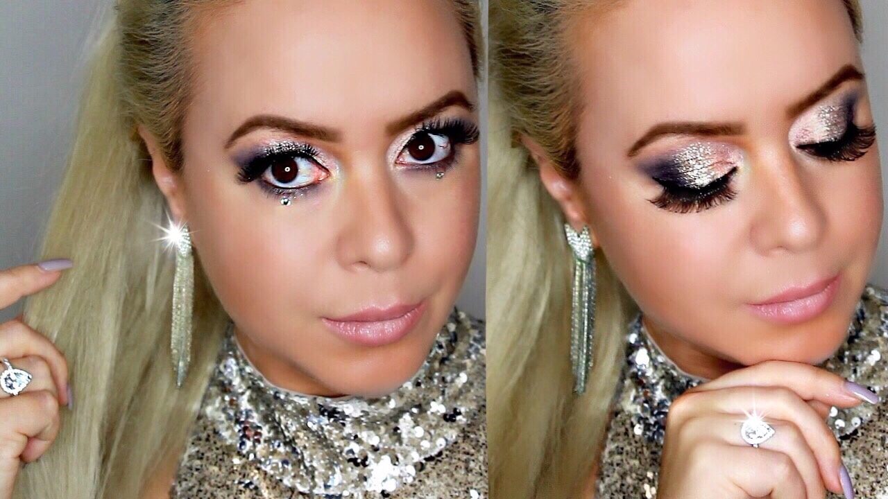 silver glitter new years eve look