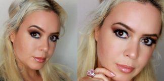 Brown Smokey Eye & Glossy Lips   Natural Fall Makeup Look