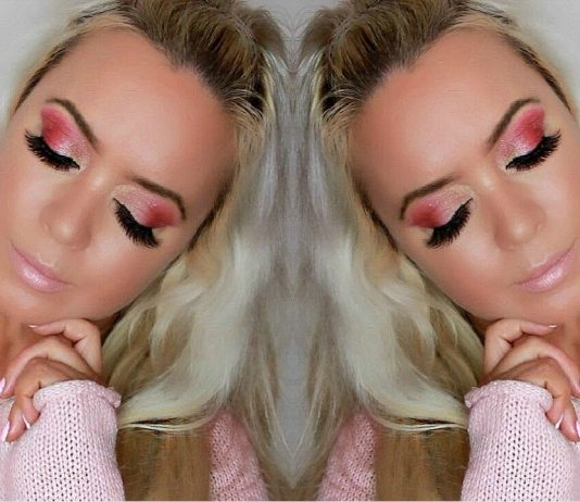 Soft Pink Glitter Barbie Doll Makeup Look | For Hooded Eyes